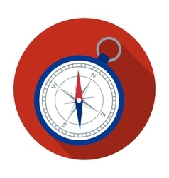 Compass icon in flat style isolated on white vector image