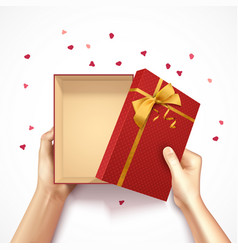 confetti gift box composition vector image