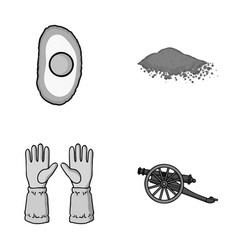 Cooking beekeeping and other monochrome icon in vector