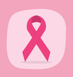 cute vertical breast cancer awareness month ribbon vector image vector image