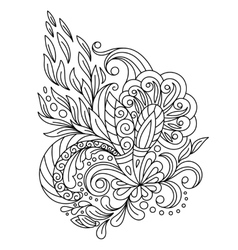 Decorative paisleys element collection vector image