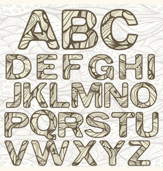 Funky latin alphabet vector