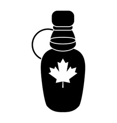 maple syrup bottle traditional pictogram vector image