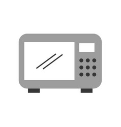 microwave oven isolated icon vector image
