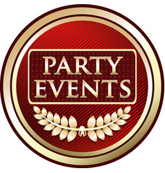 party events icon vector image