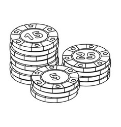 Playing chips the settlement coin in the casino vector
