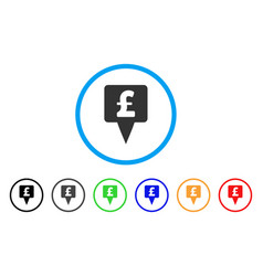 pound map pointer rounded icon vector image