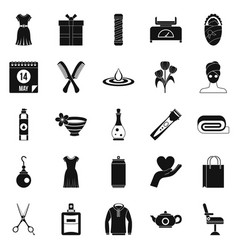 Recreation icons set simple style vector