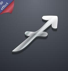 Sagittarius icon symbol 3D style Trendy modern vector image