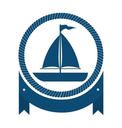 sailboat maritime isolated icon vector image