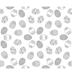 Seamless simple pattern with easter eggs easter vector