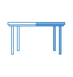 table furniture wooden modern style design vector image