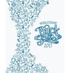 vertical back to school background vector image vector image