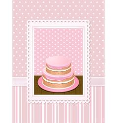 vintage cake vector image