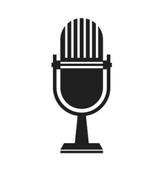 vintage microphone sound radio studio vector image vector image