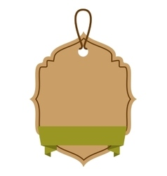ecology tag hanging icon vector image