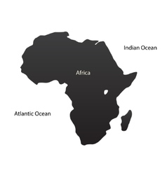 The african continent vector