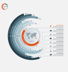 Circle infographic template with 8 options vector