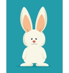 bunny cartoon white rabbit vector image