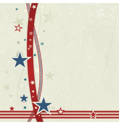 Usa patriotic background in red blue and off whit vector