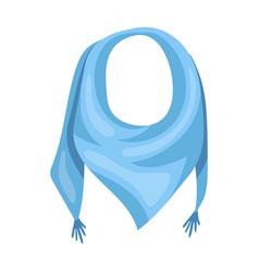Blue summer bandana from the sunbandana with vector