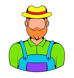 farmer icon cartoon vector image