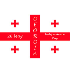 Independence day of georgia vector