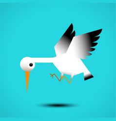 white stork flying vector image