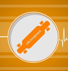 Flat for active lifestyle longboard vector