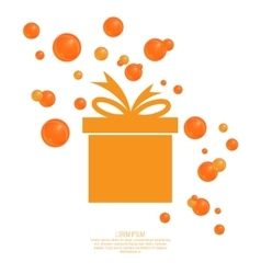 Gift box with ribbon and bow vector