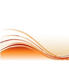 red wave background with lines vector image
