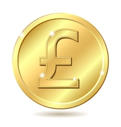 Golden coin pound vector