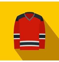 Hockey uniform flat icon vector