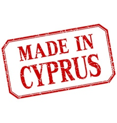 Cyprus - made in red vintage isolated label vector