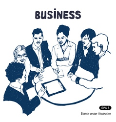 Business group portrait vector