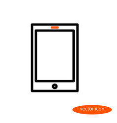 A simple linear image of an electronic book vector
