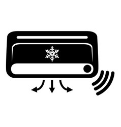 air conditioning icon simple black style vector image