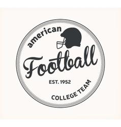 American football logo vector