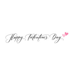 Banner with happy valentines day text and hearts vector