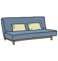 Blue sofa vector