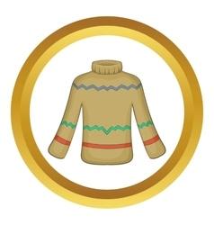 Cute winter sweater icon vector