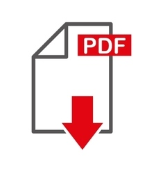 Document file format with arrow download isolated vector