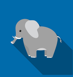 Elephant icon flat singe animal icon from the big vector