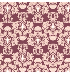 Floral damask pattern background vector image