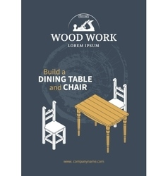 Furniture wood poster vector