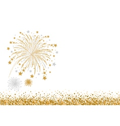 gold and silver firework design on white ba vector image vector image