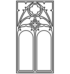Gothic style frame vector