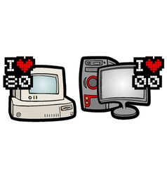 Old and new computer vector