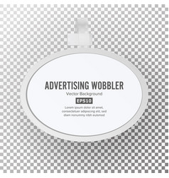 Plastic advertising wobbler vector