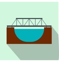 Rail bridge flat icon vector